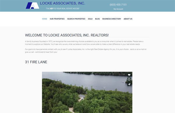 locke associates real estate cms enabled website designed by pcs web design