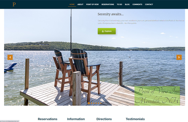 point of view inn meredith nh cms enabled website designed by pcs web design