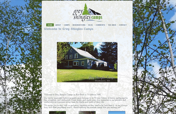 grey shingles camps cms enabled website designed by pcs web design