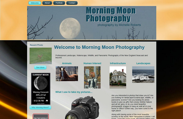 morning moon photography cms enabled website designed by pcs web design web