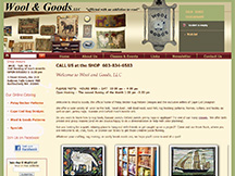 Wool and Goods, LLC new e-commerce website designed by PCS Web Design